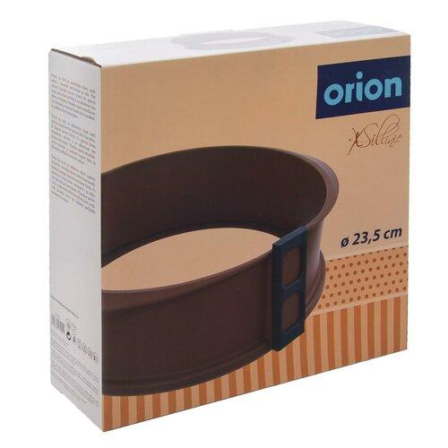 Orion Silikonová forma na dort se skleněným dnem, hnědá