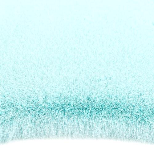 Kožešina Catrin tyrkysová, 60 x 90 cm