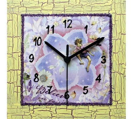 Nástěnné hodiny květinový chlapec