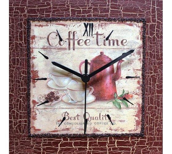 Dekoratívne nástenné hodiny Coffee Time