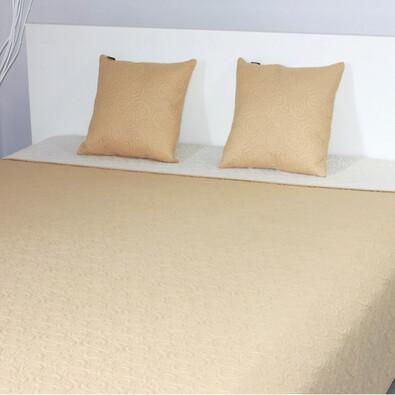 Přehoz na postel Maestri béžová + povlaky na polštářky zdarma, 220 x 240 cm, 2 ks 40 x 40 cm