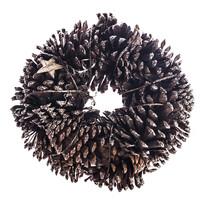 Coroniță cu conuri și steluțe diam. 25 cm,  naturală,