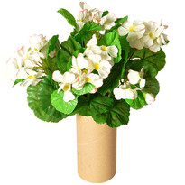 Sztuczna Pelargonia biały, 30 cm