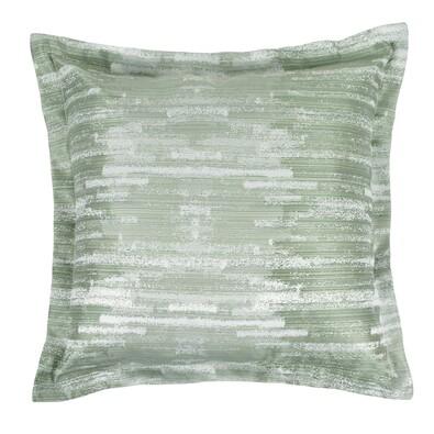 Polštářek Zita pruhy zelená 50 x 50 cm
