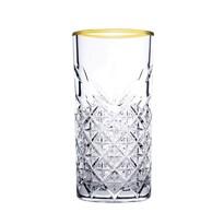 Set pahare long drink Mäser, 4 piese Timeless Golden Touch, 295 ml