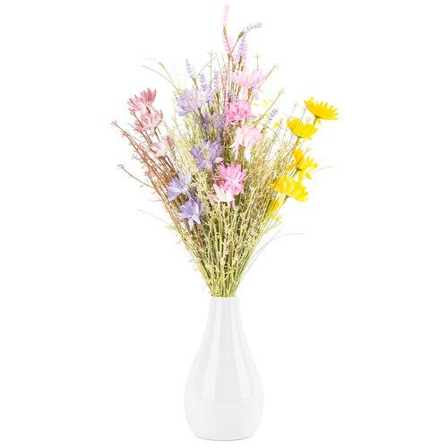 Mű réti virágok, 51 cm, fehér