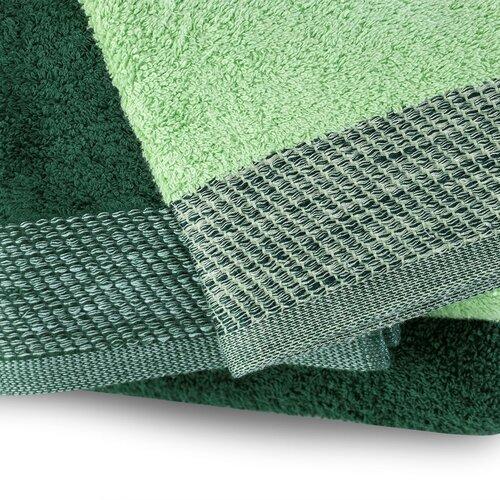 AmeliaHome Aria kéztörlő és törölköző szett, sötét zöld/pisztácia