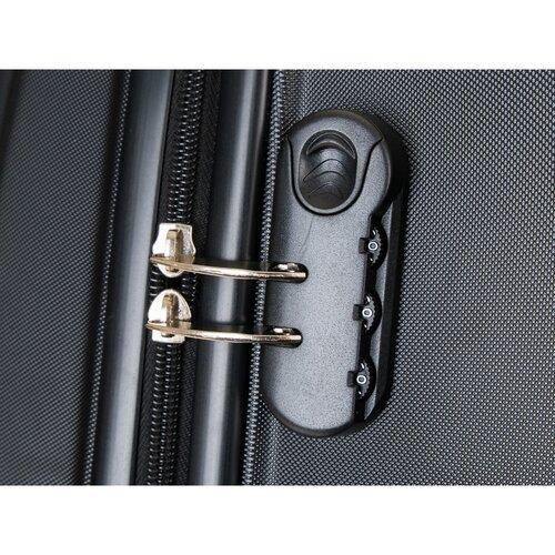 Pretty UP Cestovný škrupinový kufor ABS16 S, čierna