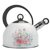 Altom Pasztell virág rozsdamentes acél teáskanna, 2,5 l