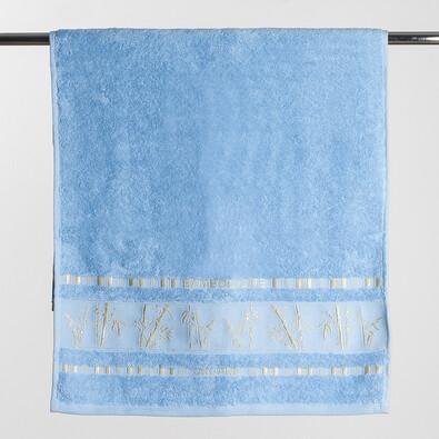 Osuška Bamboo life modrá, 70 x 140 cm
