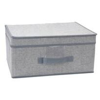 Úložný box s víkem 39 x 29 x 19 cm, šedá