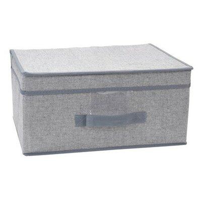 Úložný box s vekom 39 x 29 x 19 cm, sivá