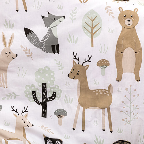4Home Detské balvnené obliečky do postieľky Nordic Friends, 100 x 135 cm, 40 x 60 cm
