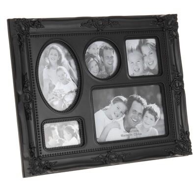 Fotorámeček na 5 fotografií černá