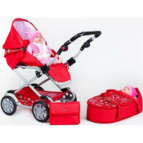 New Baby Kočárek pro panenky Monika, červená