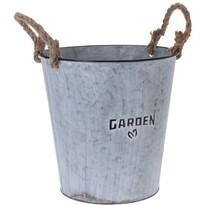 """Cynkowa osłonka na doniczkę Koopman""""Garden Plant"""", 25,5cm"""