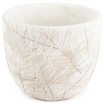 Recipient ghiveci Rustic, din beton, 17 cm, alb
