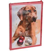 Adventný kalendár pre psov 20 x 27,5 cm, červená