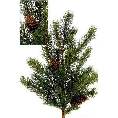Umělá větev, v. 62 cm, zelená