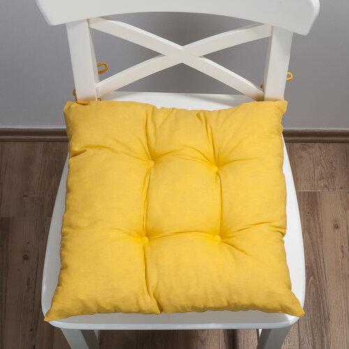 Sedák Uni, žlutá, 38 x 38 cm, sada 2 ks