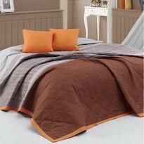 Cuvertură de pat BedTex Spencer, maro, 220 x 240 cm, 2x 40 x 40 cm