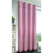 Draperie cu inele  Albani Alex, roz, 245 x 140 cm