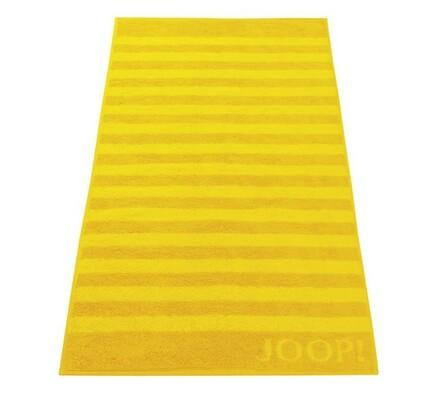 JOOP! ručník Stripes žlutý, 50 x 100 cm