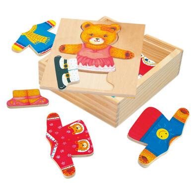 Bino Medve öltözőszekrénye puzzle