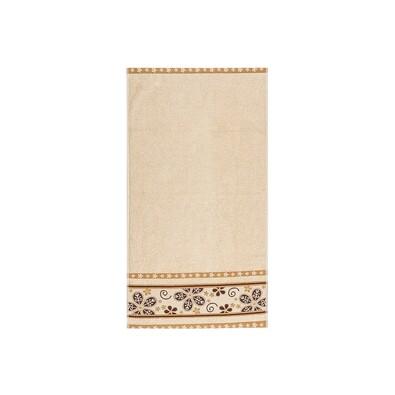 Ručník Fiora béžová, 50 x 90 cm