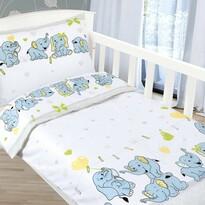 Bellatex Detské bavlnené obliečky Agáta Sloníčatá, 90 x 135 cm, 45 x 60 cm