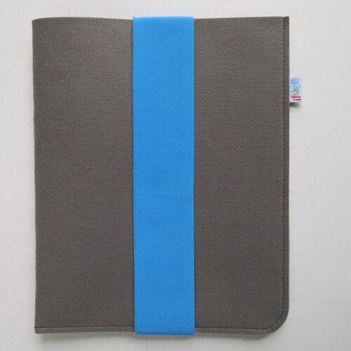 Frágil puzdro na iPad 21 x 26 cm s modrou gumičkou