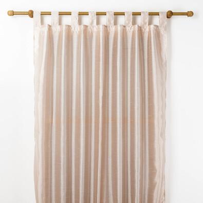 Závěs FAUX SILK, 140 x 250 cm, béžová