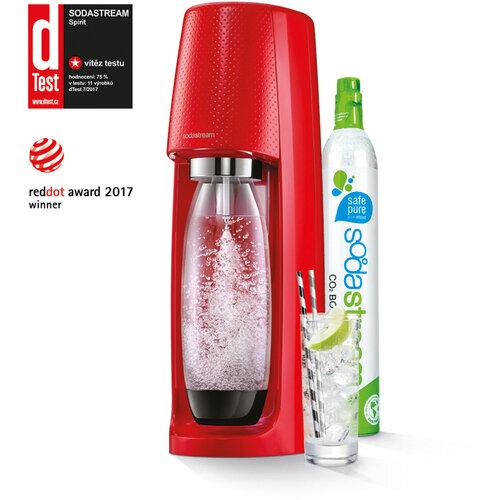 SodaStream Výrobník perlivej vody soda Spirit červená