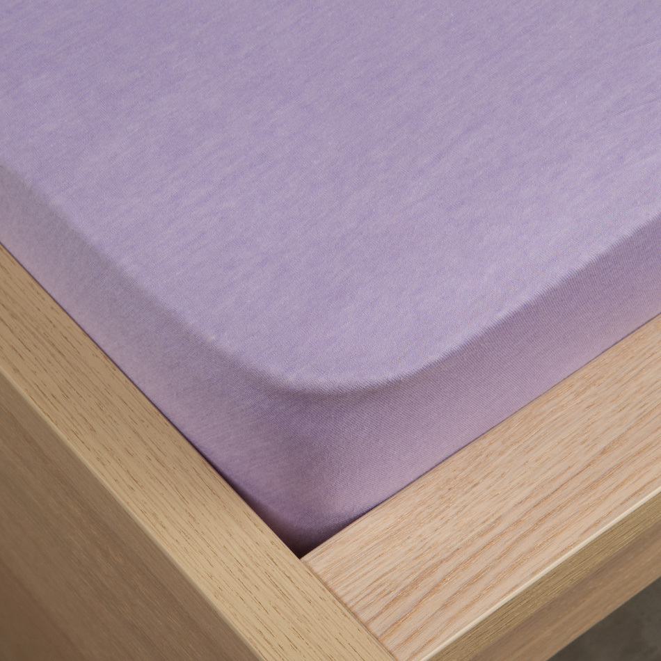 Jersey prostěradlo Klasik fialová, 100 x 200 cm (206766) od www.4home.cz