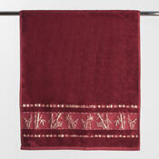 Osuška Bamboo life červená, 70 x 140 cm