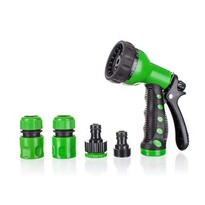 4-częściowy zestaw z pistoletem rozpylającym – 7 funkcji, zielony,