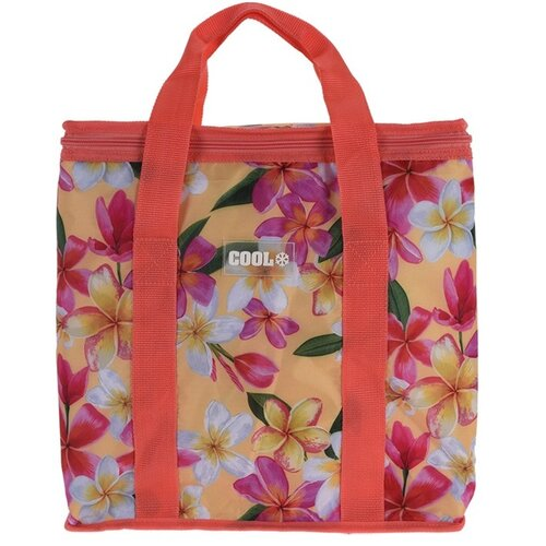 Koopman Chladicí taška Tropical flowers červená, 16 l