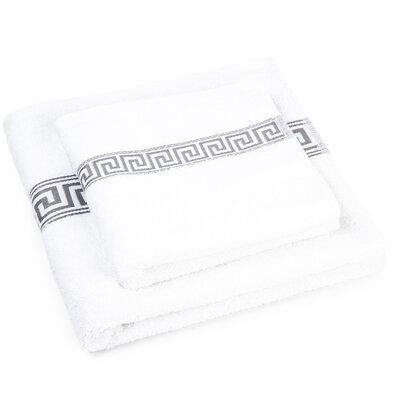 Sada ručníku a osušky Greek bílá, 50 x 90 cm, 70 x 130 cm