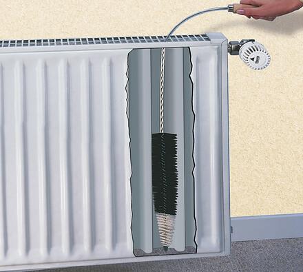 Kartáč na radiátory