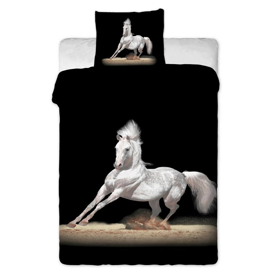 Jerry Fabrics obliečky Kůň černý bavlna 140x200 70x90