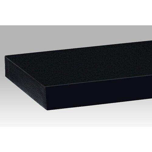 Półka ścienna 60 cm, czarny