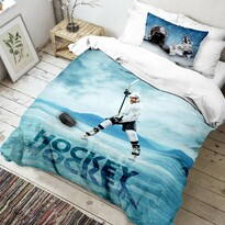 Dziecięca pościel bawełniana Hokej 3D, 140 x 200 cm, 70 x 90 cm
