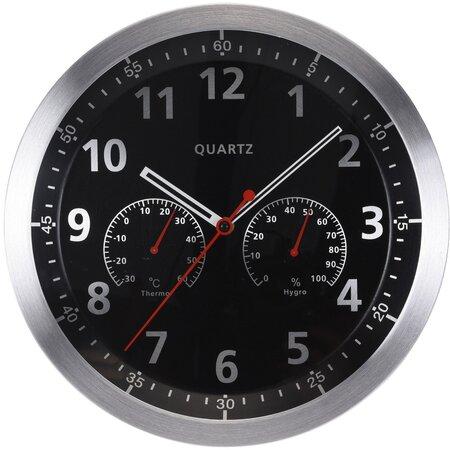 Ceas de perete Fremont, negru, 35 cm