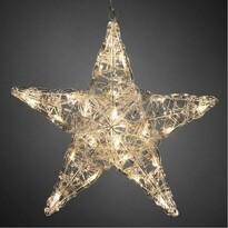 Karácsonyi 5 ágú csillag átmérő 16 cm, 24 LED