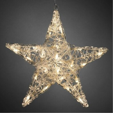 Stea de Crăciun, cu 5 colțuri, diam. 40 cm, 24 LED-uri