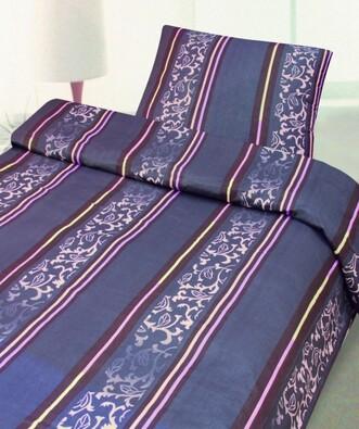 Bavlněné povlečení Ornamenty, 140 x 200 cm, 70 x 9, fialová, 140 x 200 cm, 70 x 90 cm