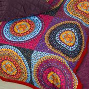 Prehoz na posteľ Gipsy oranžová, 220 x 240 cm