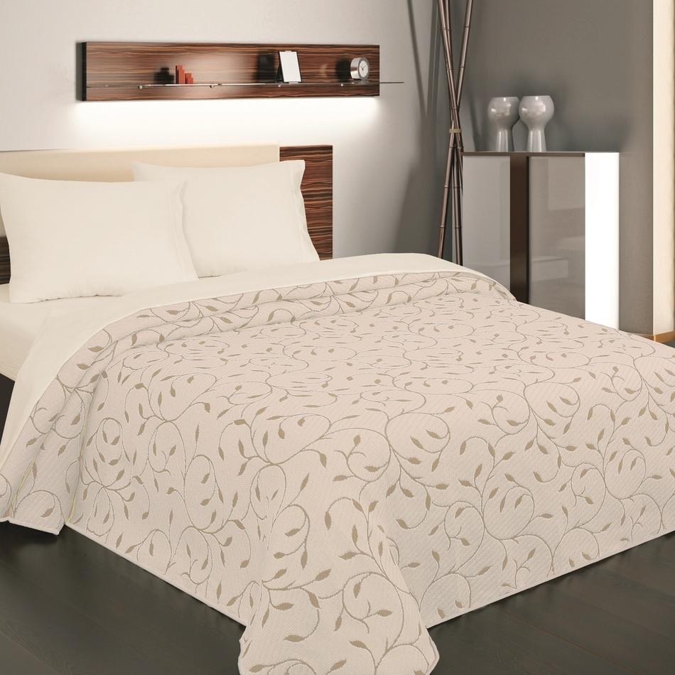 Forbyt Prehoz na posteľ Indiana béžová, 140 x 220 cm