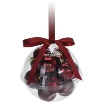 Set decorațiuni de Crăciun Xmas Ball roșu, 14 buc.
