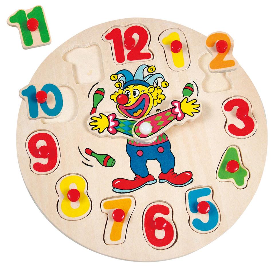 Bino Klaun Otto, hodiny-puzzle